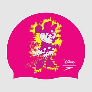 Kinder Minnie Mouse Slogan Print Badekappe in Pink
