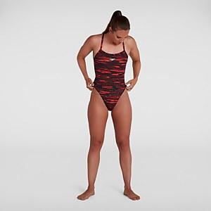 Women's Allover Turnback Swimsuit Black