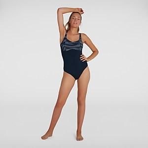 Women's ContourLustre Printed Swimsuit Navy