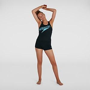 Damen Boom Logo Placement Tankini in Schwarz