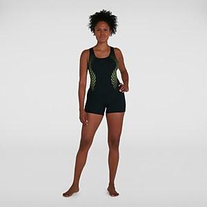 Women's Placement Racerback Legsuit Black
