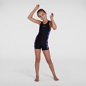 Girl's Printed Leaderback Legsuit Black