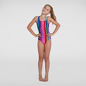 Maillot de bain Fille Digital Allover Medalist Multicolore