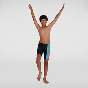 Jungen Colourblock Schwimmhose in Schwarz