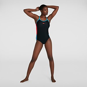Women's Dive Thinstrap Muscleback Swimsuit Black