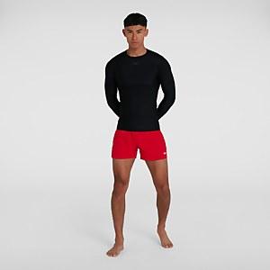 Men's Essential Long Sleeve Rash Top Black