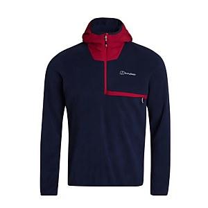 Men's Aslam Hooded Half Zip Fleece - Navy / Red