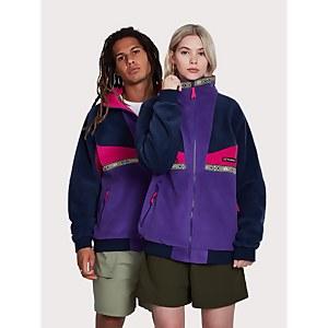 Unisex Tramantana 91 Fleece Jacket - Purple / Blue