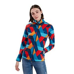 Women's Navala Fleece Jacket - Red / Blue