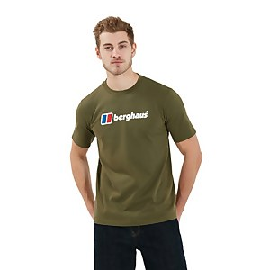 Men's Organic Big Logo Long Sleeve T-Shirt - Dark Green