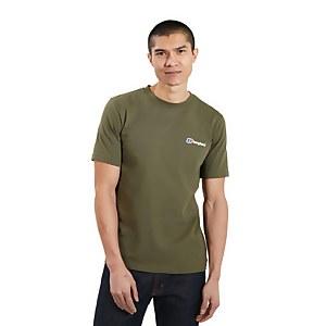 Men's Organic Front & Back Logo T-Shirt - Green