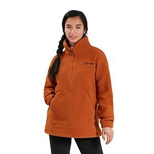 Women's Hawkser Half Zip Fleece - Brown