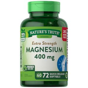 Magnesium 400mg - 72 Quick-release softgels