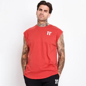 Men's Core Cut Off Sleeve T-Shirt - Goji Berry Red