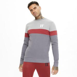 Men's Carbon Panel Sweatshirt - Anthracite/Silver/Red
