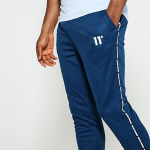 Men's Maize Pique Repeat Binding Joggers Skinny Fit - Sailor Blue