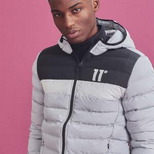 Men's Colour Block Space Jacket - Vapour Grey/Black/White