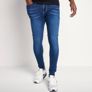 Men's Sustainable Stretch Jeans Skinny Fit - Mid Blue Wash