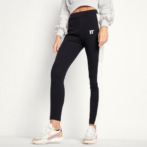 Women's Cut And Sew Leggings - Grey Marl/Black