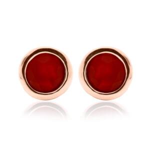 Carnelian July Birthstone Earrings