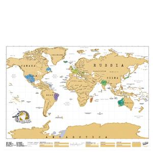 Weltkarte zum frei Rubbeln - Scratch Map
