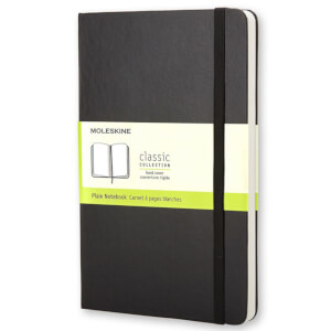 Moleskine Classic Plain Hardcover Large Notebook - Black