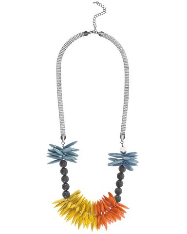 French Connection Petal Drop Necklace  - Yellow/Orange