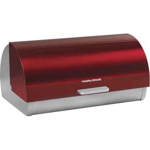Morphy Richards 46241 Roll Top Bread Bin - Red