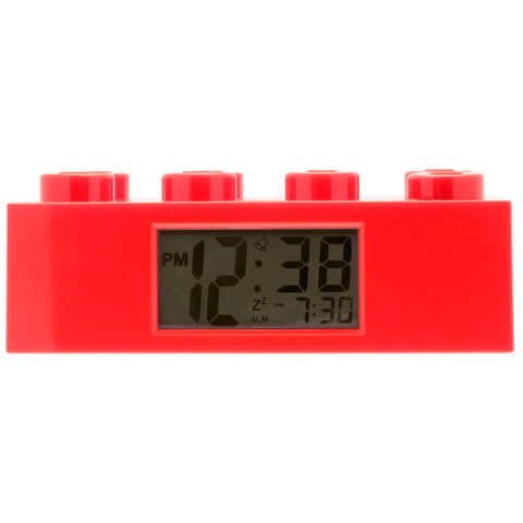 LEGO Alarm Clock - Red