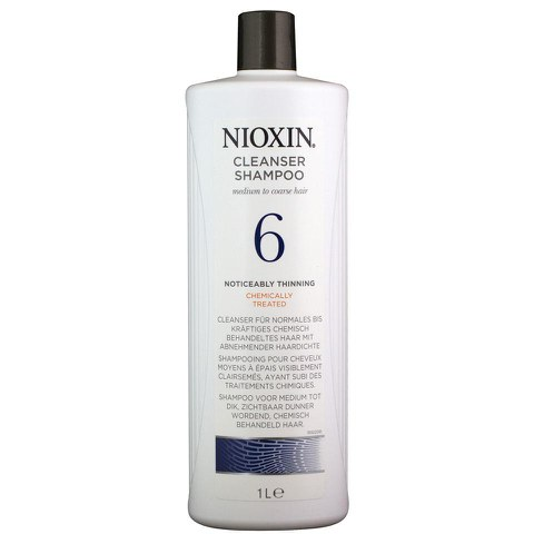 NIOXIN System 6 Cleanser Shampoo for Noticeably Thinning, Medium to Coarse Hair 1000ml