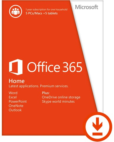 Microsoft Office 365 Home – 1 Year