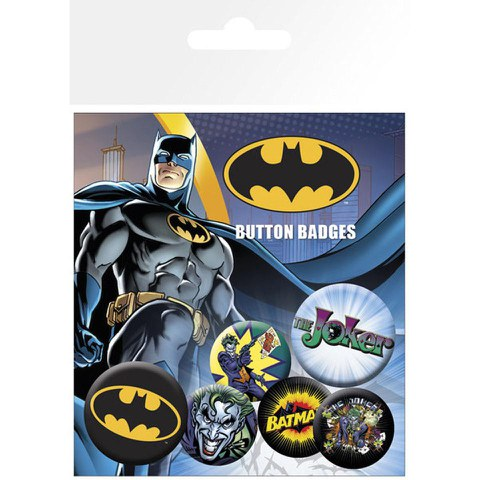 Lot de Badges - DC Comics Batman & Joker