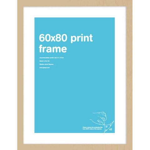 Oak Frame 60 x 80 cm Print