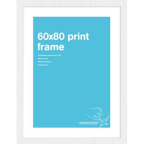 White Frame 60 x 80 cm Print