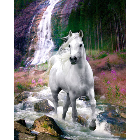 Bob Langrish Waterfall - Mini Poster - 40 x 50cm