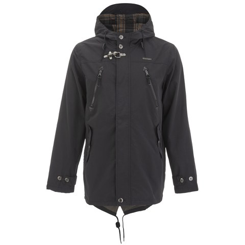 Ringspun Men's Checkmate Parka Coat - Black