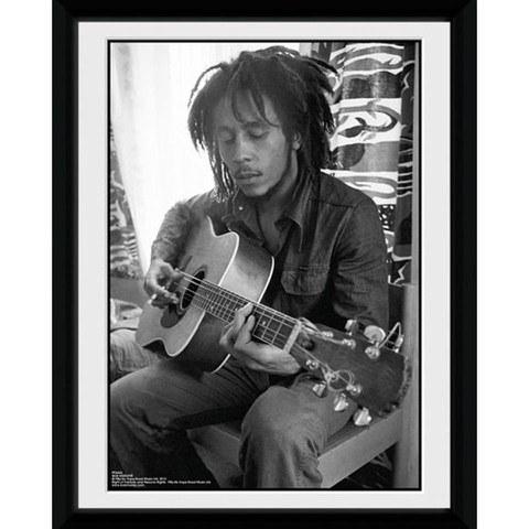 Bob Marley Guitar - 8x6 Framed Photographic