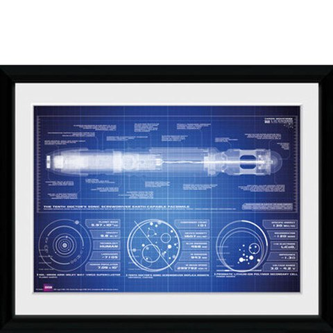 Doctor Who Screwdriver - 30x40 Collector Prints