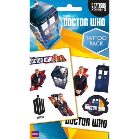 Planche de Tatouages Doctor Who - Assortiment