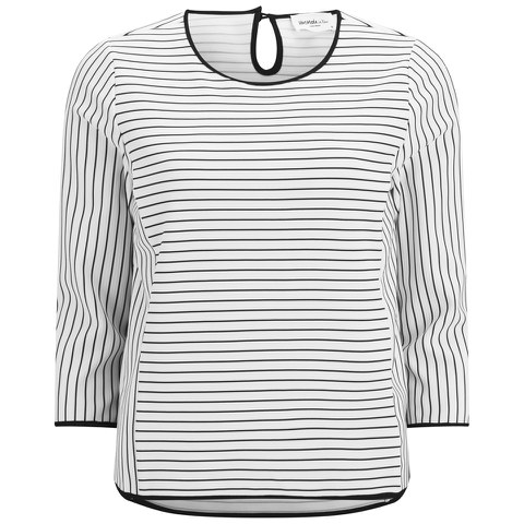 Vero Moda Women's Ingrid Nautical Top - Snow White
