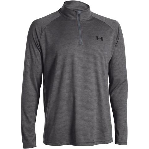 Under Armour Men's Tech 1/4 Zip Long Sleeve Top - Grey
