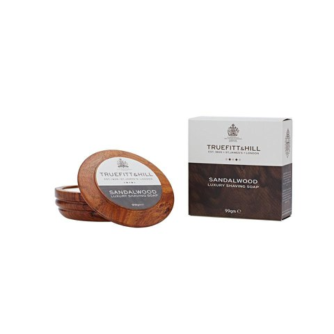 Truefitt & Hill Sandalwood Luxury Shaving Soap in Wooden Bowl