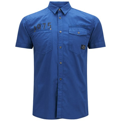 Jack & Jones Men's Short Sleeved Bade Shirt - Cobalt