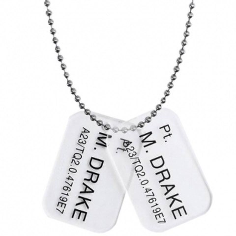 Dog Tags Marine Pt. Drake -Aliens: Colonial Marines