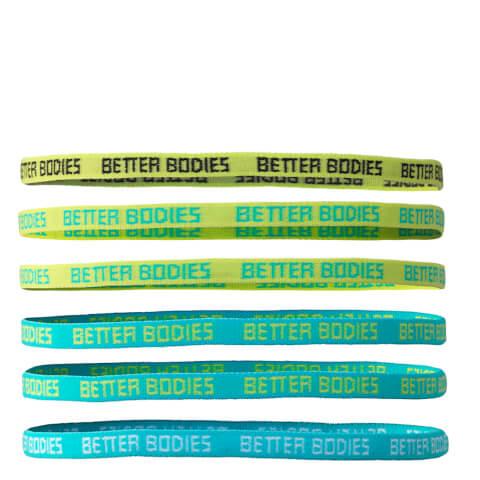Better Bodies Headband - Aqua/Dark Grey