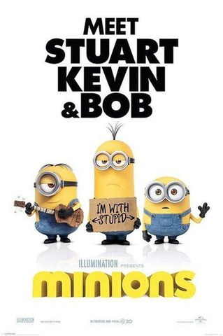 Minions Im With Stupid - 24 x 36 Inches Maxi Poster