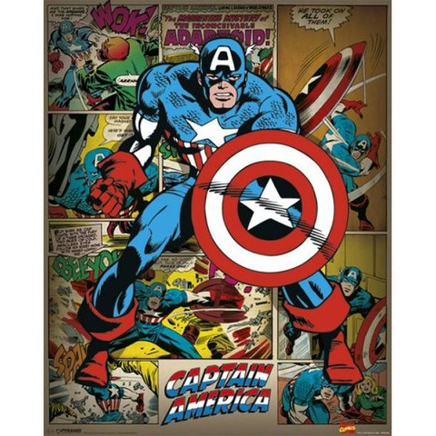 Marvel Comics Captain America Retro - 16 x 20 Inches Mini Poster