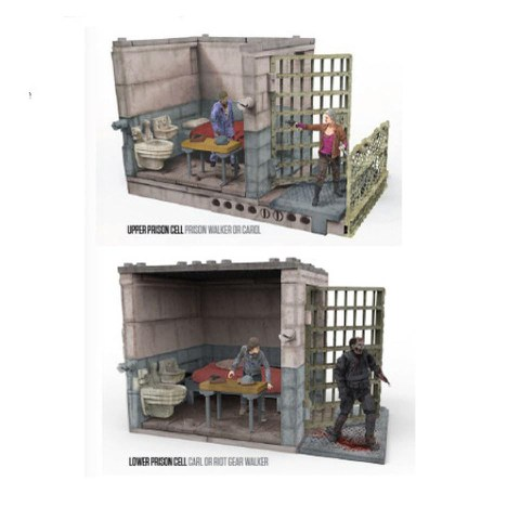 McFarlane The Walking Dead Upper And Lower Prison Cells Construction Set