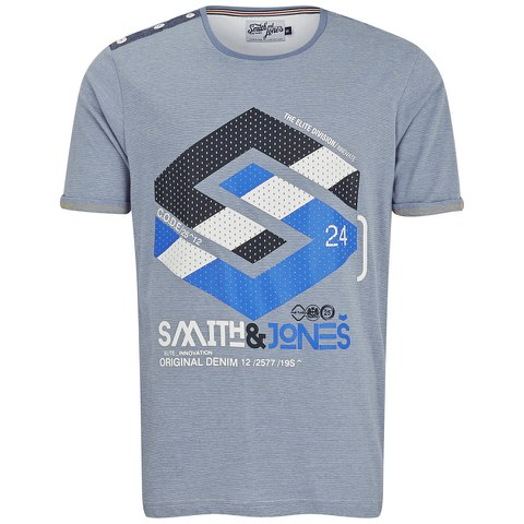 Smith & Jones Men's Stoneleigh T-Shirt - Infinity Blue