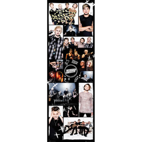 5 Seconds of Summer Grid 2 - 21 x 59 Inches Door Poster